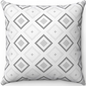 "Grey Minimalist Abstract Pattern #Three 18"" x 18"" Square Throw Pillow"