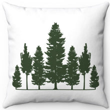 "Load image into Gallery viewer, Treeline Silhouette 16"" 18"" Or 20"" Square Throw Pillow Cover"