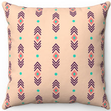 "Load image into Gallery viewer, Pastel Abstract Peachy Boho Pattern 16"" 18"" Or 20"" Square Throw Pillow Cover"