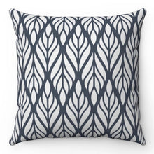 "Load image into Gallery viewer, Dark Gray Wheat Patterned 18"" x 18"" Throw Pillow Cover"