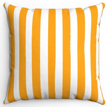 "Load image into Gallery viewer, Orange Texture Stripes 16"" Or 18"" Square Throw Pillow Cover"