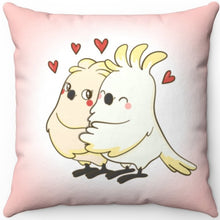"Load image into Gallery viewer, Love Birds 16"" Or 18"" Square Throw Pillow"