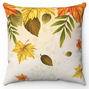"Falling Autumn Leaves 20"" x 20"" Throw Pillow Cover"