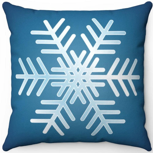 Blue & White Snowflake 18