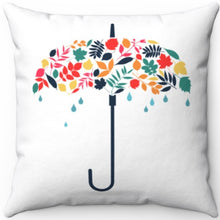"Load image into Gallery viewer, April Showers Bring May Flowers 18"" x 18"" Square Throw Pillow"