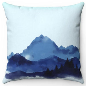 "Mountains In Watercolor 18"" Or 20"" Square Throw Pillow Cover"