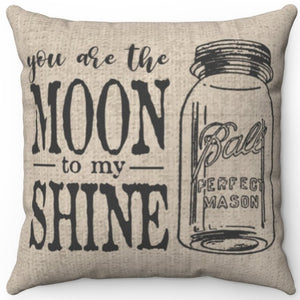 "You Are The MOON To My SHINE 16"" 18"" Or 20"" Square Throw Pillow Cover"