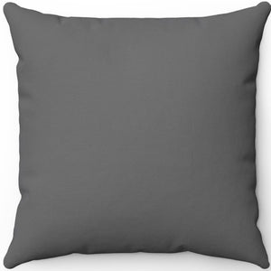 "Dim Grey 16"" 18"" Or 20"" Square Throw Pillow Cover"