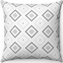"Load image into Gallery viewer, Grey Minimalist Abstract Pattern #Three 18"" x 18"" Square Throw Pillow"