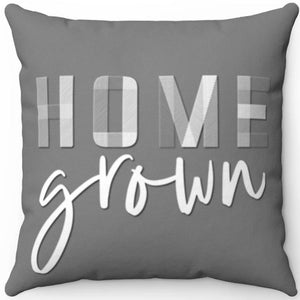 "Home Grown On Grey 16"" 18"" Or 20"" Square Throw Pillow Cover"