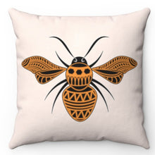 "Load image into Gallery viewer, Mandala Bee 20"" x 20"" Throw Pillow Cover"