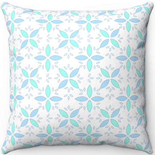 Pastel Blue & Green Floral Pattern 18
