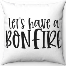 "Load image into Gallery viewer, Bonfire Black & White 18"" x 18"" Throw Pillow Cover"