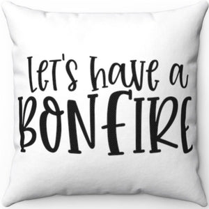 "Bonfire Black & White 18"" x 18"" Throw Pillow Cover"