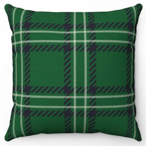 Green With Black Square Buffalo Plaid 18
