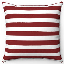 "Load image into Gallery viewer, Dark Red Texture Stripes 16"" Or 18"" Square Throw Pillow Cover"