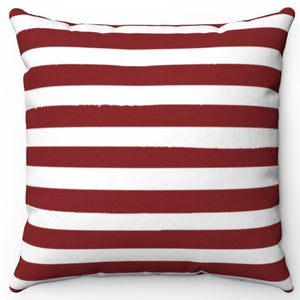"Dark Red Texture Stripes 16"" Or 18"" Square Throw Pillow Cover"