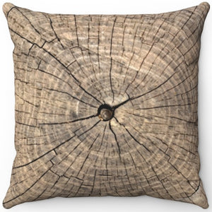 "Rings Of A Tree Trunk 16"" 18"" Or 20"" Square Throw Pillow Cover"