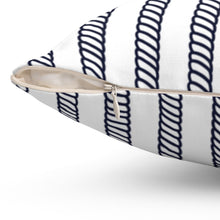 "Load image into Gallery viewer, Nautical Ropes Pattern 16"" 18"" Or 20"" Square Throw Pillow Cover"