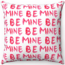 "Load image into Gallery viewer, Red Lipstick Be Mine 16"" 18"" Or 20"" Square Throw Pillow Cover"