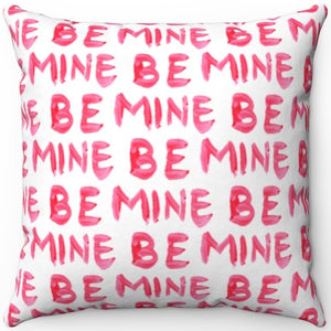 "Red Lipstick Be Mine 16"" 18"" Or 20"" Square Throw Pillow Cover"