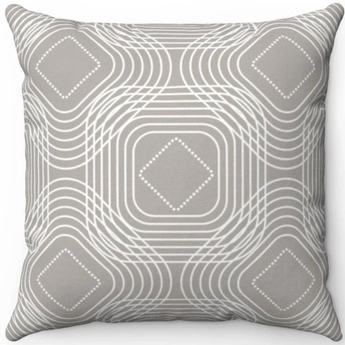 Delicate Grey & White Geometric Pattern #Eight 18