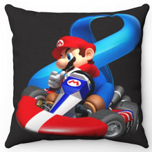 "Load image into Gallery viewer, Mario Kart 8 18"" x 18"" Square Throw Pillow"