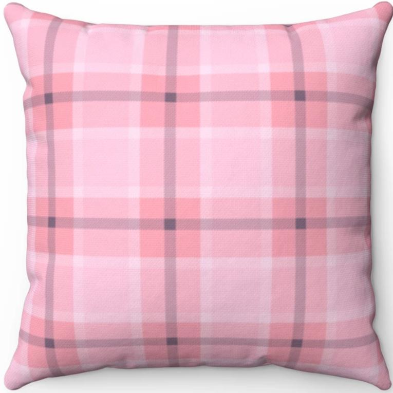 Pink & Grey Easter Plaid 16