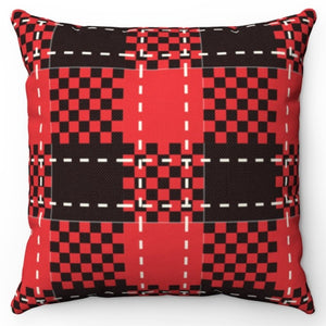 "Black Red & White Buffalo Plaid 18"" Or 20"" Throw Pillow Cover"