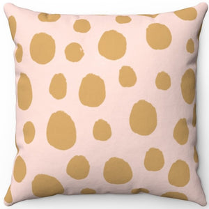 "Animal Spots Pastel Print 16"" 18"" Or 20"" Square Throw Pillow Cover"