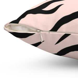 "Zebra Pastel Animal Print 16"" 18"" Or 20"" Square Throw Pillow Cover"