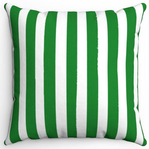 "Dark Green Texture Stripes 16"" Or 18"" Square Throw Pillow Cover"