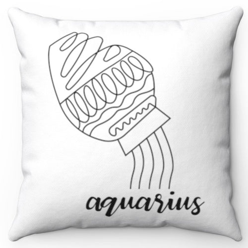 Aquarius Black & White Printed Design 16