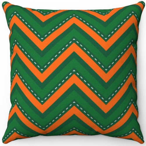 St. Patrick's Day Green & Orange Chevron Pattern 16