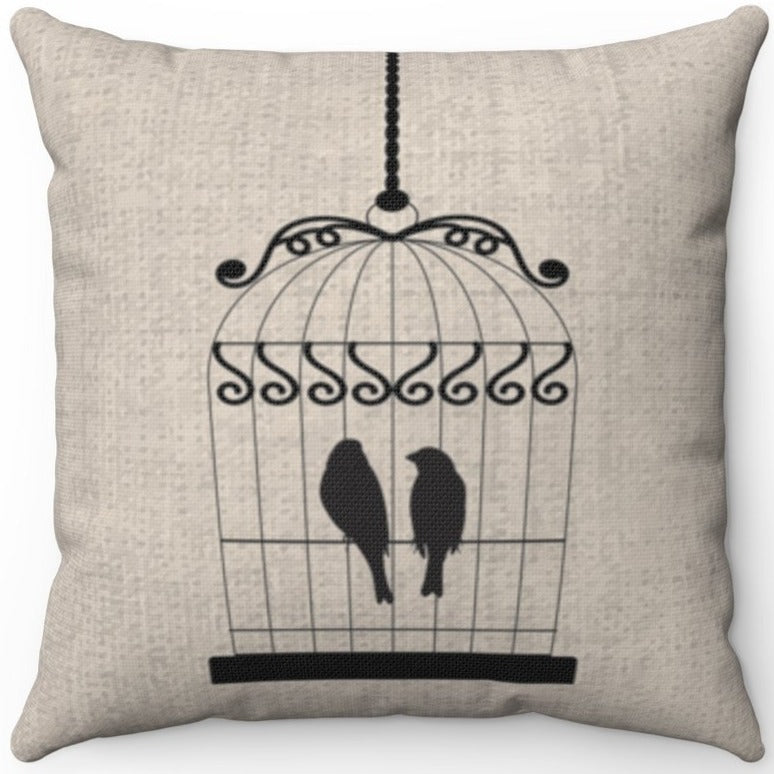 Two Black Birds In A Cage 16