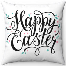 "Load image into Gallery viewer, Happy Easter 16"" Or 18"" Square Throw Pillow"