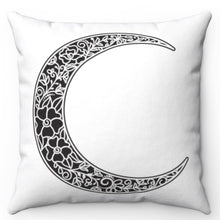 "Load image into Gallery viewer, Black Moon Rising 18"" x 18"" Throw Pillow Cover"