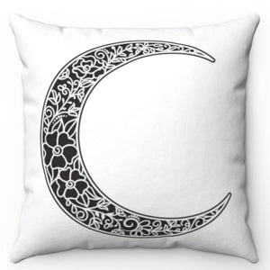 "Black Moon Rising 18"" x 18"" Throw Pillow Cover"