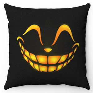 "Halloween Happy Scary Face 18"" x 18"" Throw Pillow Cover"