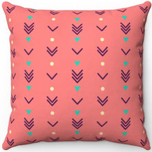 "Load image into Gallery viewer, Pastel Abstract Boho Arrows Pattern 16"" 18"" Or 20"" Square Throw Pillow Cover"