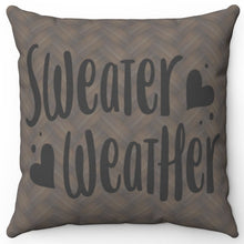 "Load image into Gallery viewer, Sweater Weather 18"" Or 20"" Square Throw Pillow Cover"