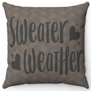 "Sweater Weather 18"" Or 20"" Square Throw Pillow Cover"