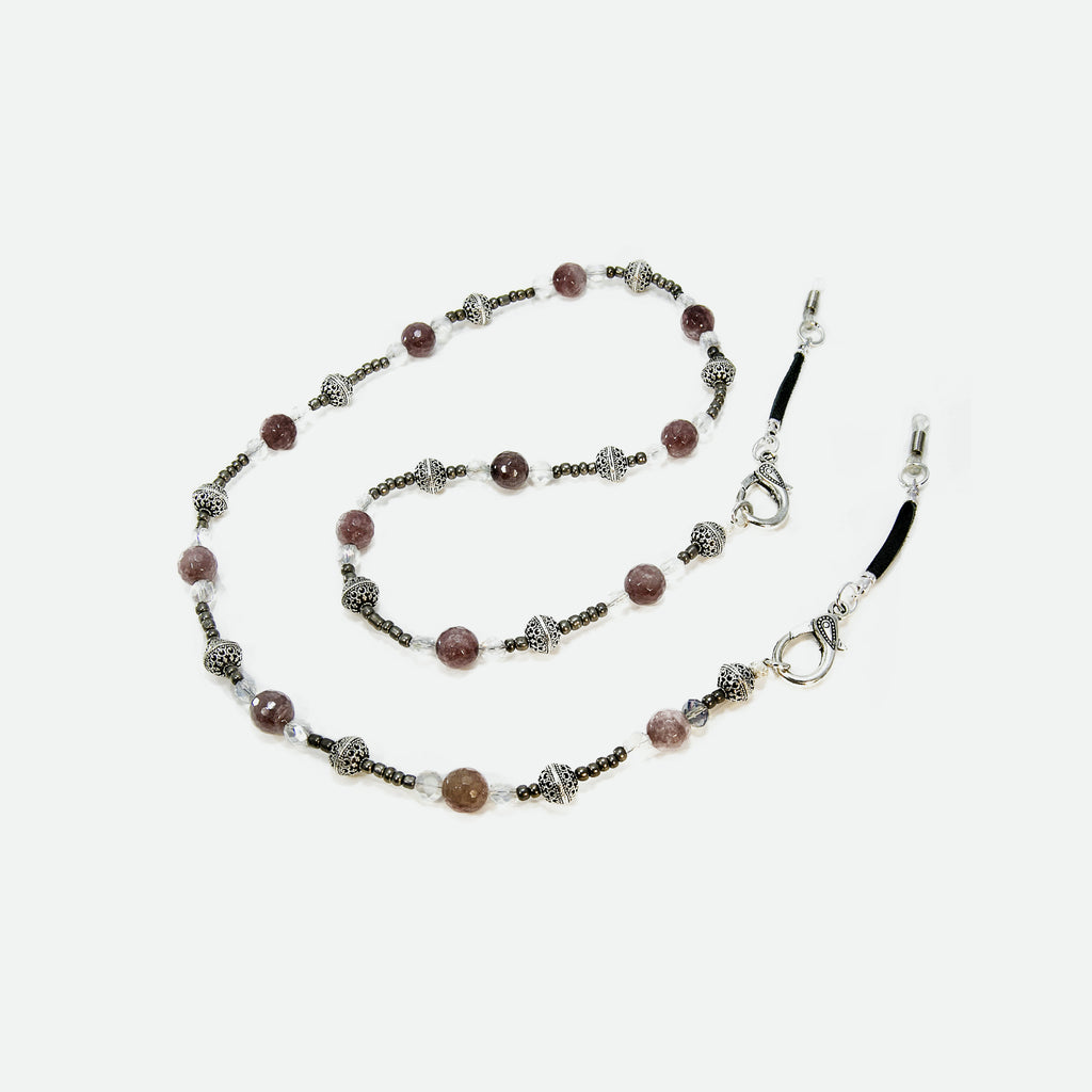 Bella Moonstone Eyeglass Necklace - Coccinellahaute