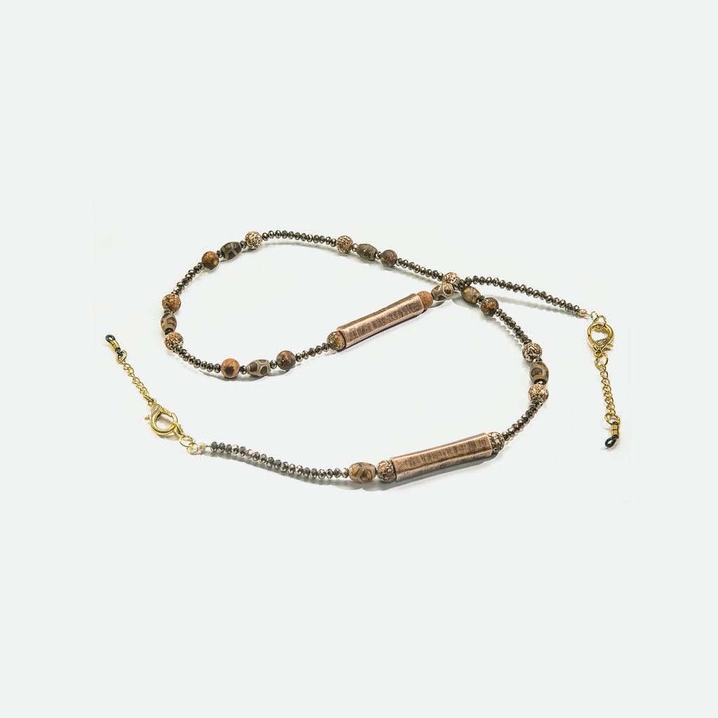 Bellissimo Luxe Bronze Eyeglass Necklace - Coccinellahaute