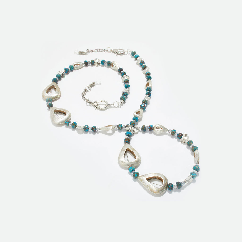 Blue Skies Eyeglass Necklace - Coccinellahaute