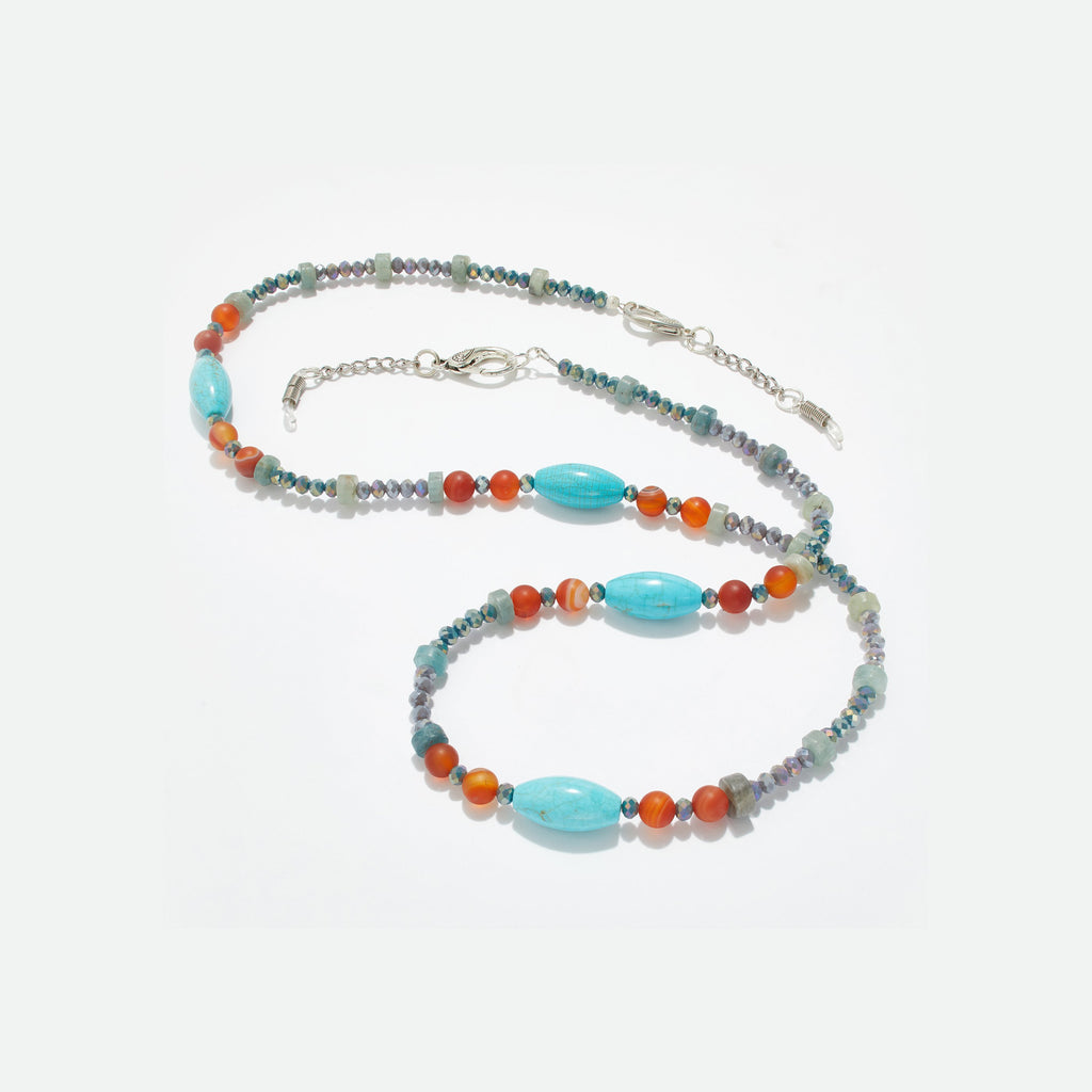 Vibrant Crystal Eyeglass Necklace - Coccinellahaute