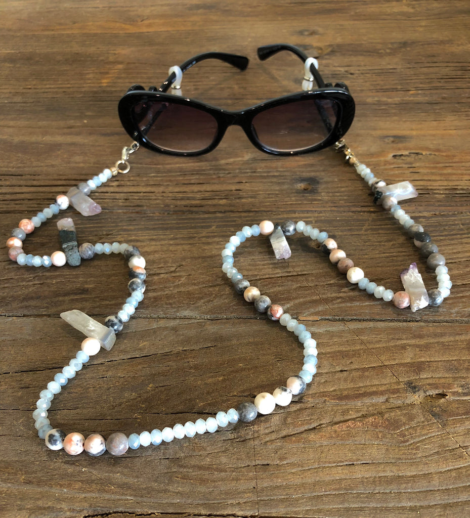 Exclusive Quartz Eyeglass Necklace
