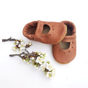 Leather Mary Jane Shoe - Tribe Brown