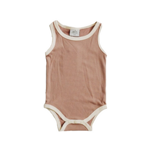 Ribbed Bodysuit - Pale Mauve