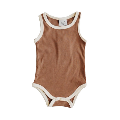 Ribbed Bodysuit - Chocolate Cream